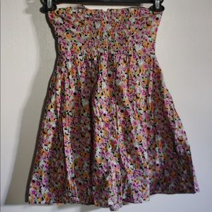 Colorful Floral Short Dress by Feathers